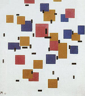 Composition in Colour A 1917 By Piet Mondrian - Oil Paintings & Art Reproductions - Reproduction Gallery