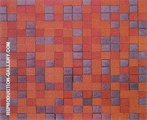 Reproduction of Composition Chequerboard Dark Colours 1919 by Piet Mondrian | Oil Painting Replica On CanvasReproduction Gallery