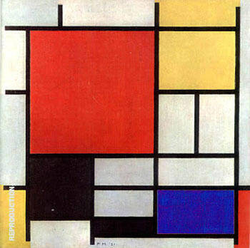 Reproduction of Composition with Red, Yellow, Blue and Black,  1921 by Piet Mondrian | Oil Painting Replica On CanvasReproduction Gallery