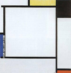 Reproduction of Composition 2,  1922 by Piet Mondrian | Oil Painting Replica On CanvasReproduction Gallery