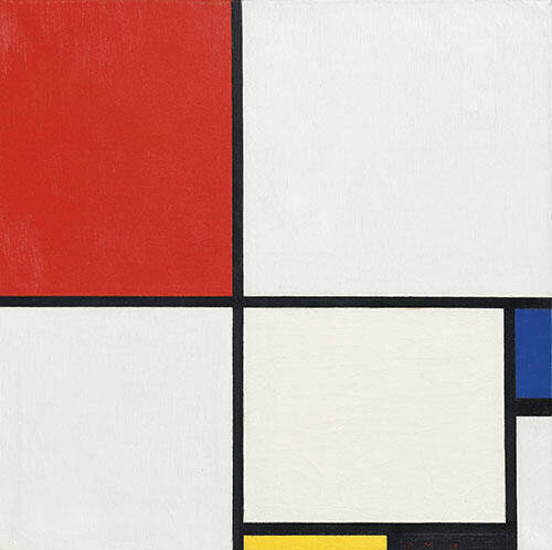 Composition No III with Red, Blue, Yellow, and Black 1929 Painting By ...