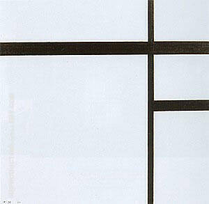 Composition II with Black Lines, 1930 Painting By Piet Mondrian