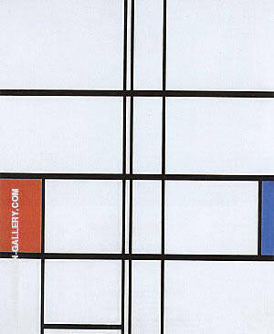 Composition with Red and Blue 1936 By Piet Mondrian