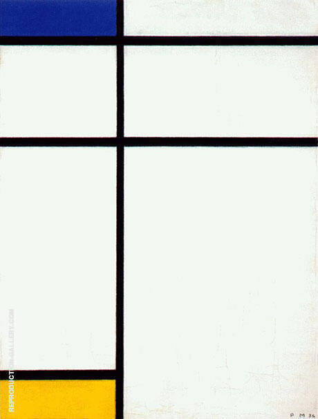 Composition III with Blue, Yellow and White 1936 By Piet Mondrian