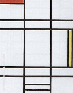 Composition with White, Red and Yellow By Piet Mondrian