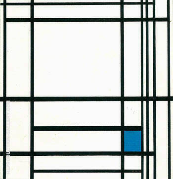 Composition with Blue  1937 By Piet Mondrian