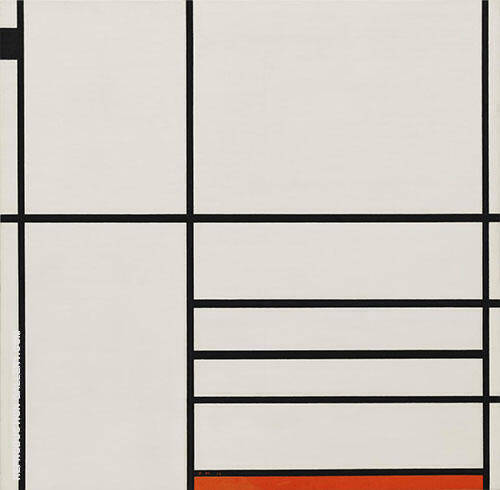 Composition with Red and Black,  1936 By Piet Mondrian Replica Paintings on Canvas - Reproduction Gallery