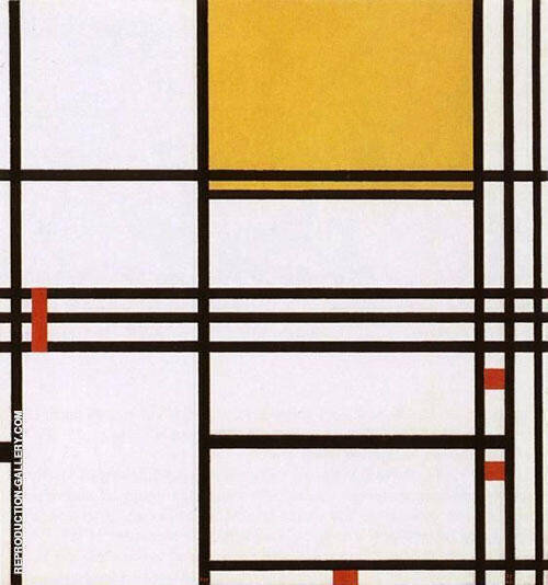 Composition with Black, White, Yellow and Red By Piet Mondrian
