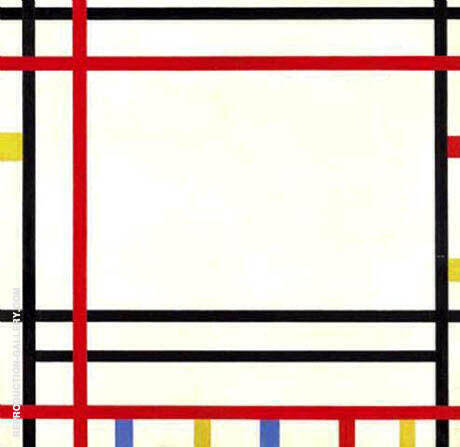 New York, New York, 1941/42 By Piet Mondrian