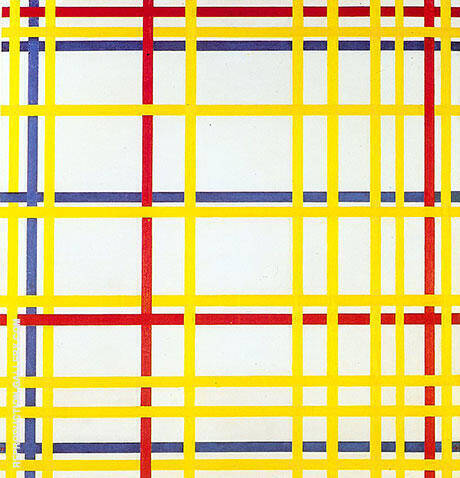 New York City I,  1942 By Piet Mondrian - Oil Paintings & Art Reproductions - Reproduction Gallery