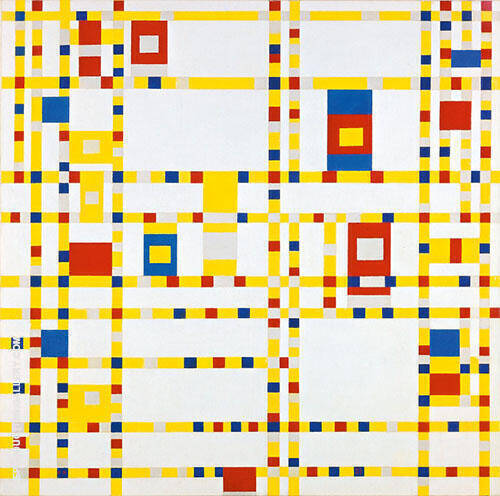 Broadway Boogie-Woogie By Piet Mondrian Replica Paintings on Canvas - Reproduction Gallery