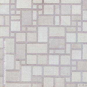 Composition Light Colour Planes with Grey Contours,  1919 By Piet Mondrian