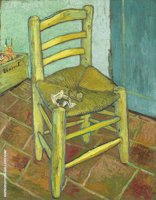 Chair with Pipe 1888 By Vincent van Gogh - Oil Paintings & Art Reproductions - Reproduction Gallery