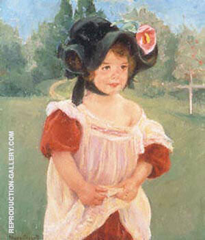 Margot Standing in a Garden By Mary Cassatt Replica Paintings on Canvas - Reproduction Gallery