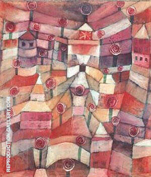 Rose Garden 1920 By Paul Klee - Oil Paintings & Art Reproductions - Reproduction Gallery