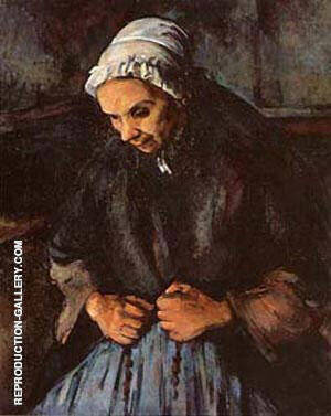 An Old Woman with Rosary Painting By Paul Cezanne - Reproduction Gallery