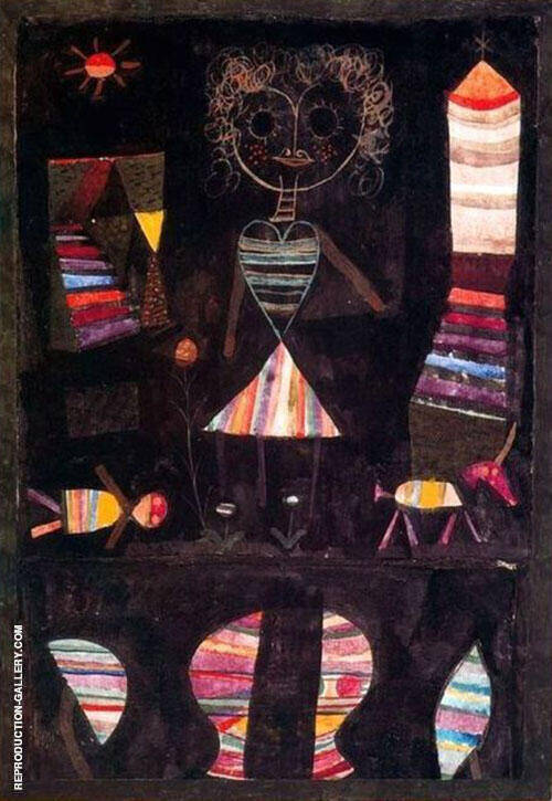 Puppet Theatre 1923 Painting By Paul Klee - Reproduction Gallery