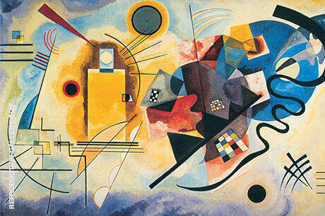 Reproduction of Yellow Red Blue 1925 by Wassily Kandinsky | Oil Painting Replica On CanvasReproduction Gallery