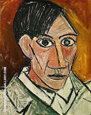 Self-Portrait 1907 Painting By Pablo Picasso - Reproduction Gallery