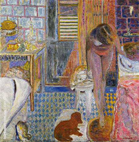 La Toilette (The Bathroom) 1932 By Pierre Bonnard - Oil Paintings & Art Reproductions - Reproduction Gallery