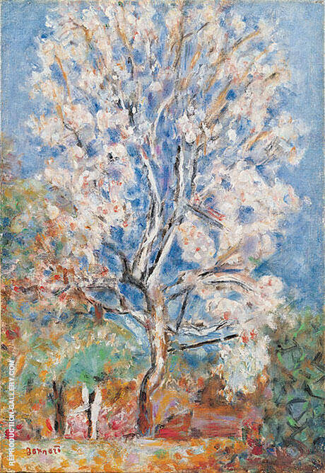 Almond Tree in Blossom 1945 By Pierre Bonnard - Oil Paintings & Art Reproductions - Reproduction Gallery