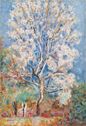 Almond Tree in Blossom 1945 By Pierre Bonnard