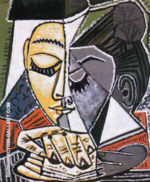 Tete D'une Femme Lisant By Pablo Picasso - Oil Paintings & Art Reproductions - Reproduction Gallery