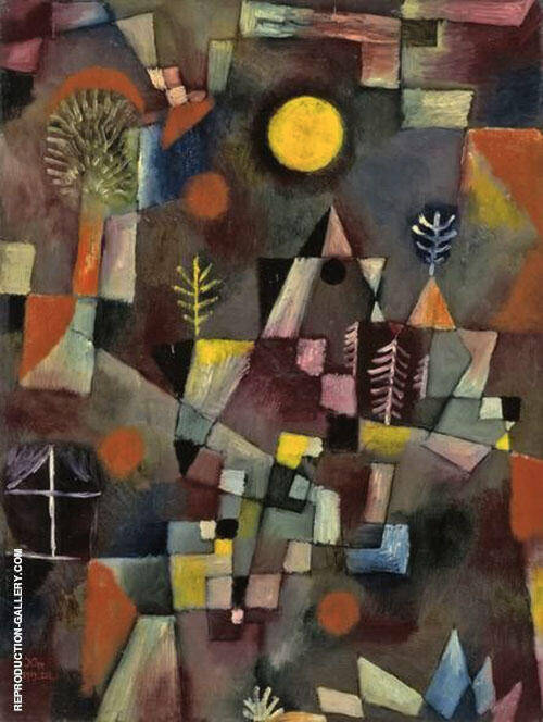 Full Moon 1919 Painting By Paul Klee - Reproduction Gallery