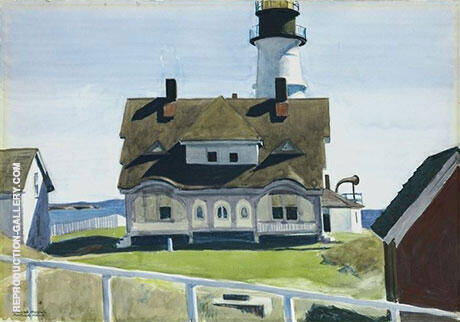 Captain Strout's House 1927 By Edward Hopper Replica Paintings on Canvas - Reproduction Gallery