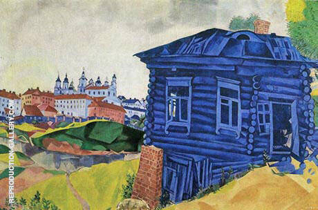The Blue House By Marc Chagall