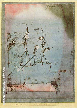 Twittering Machine 1922 By Paul Klee - Oil Paintings & Art Reproductions - Reproduction Gallery