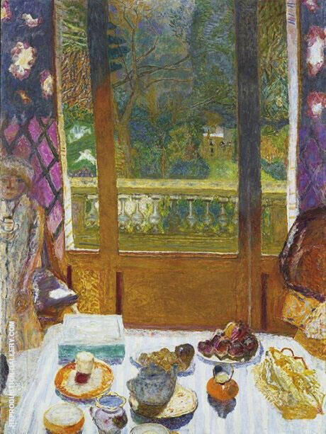 Reproduction of The Dining Room Overlooking the Garden 1930 by Pierre Bonnard | Oil Painting Replica On CanvasReproduction Gallery