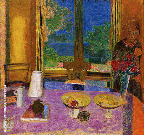 Reproduction of The Dining Room on the Garden 1934 by Pierre Bonnard | Oil Painting Replica On CanvasReproduction Gallery
