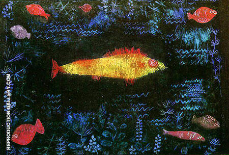 The Golden Fish 1925 By Paul Klee - Oil Paintings & Art Reproductions - Reproduction Gallery