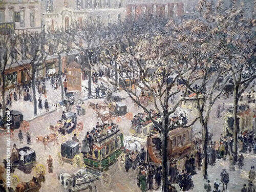 Boulevard des Italiens, Morning Sunlight 1897 Painting By Camille Pissarro