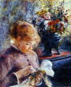 Lady Sewing 1879 By Pierre Auguste Renoir