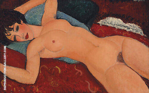Nude on a Cushion 1917 By Amedeo Modigliani