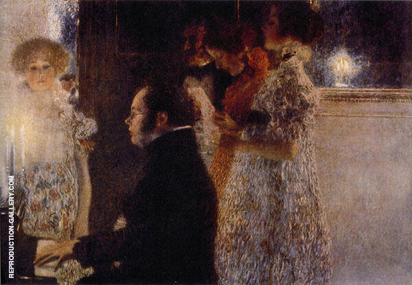 Schubert at the Piano 1899 Painting By Gustav Klimt - Reproduction Gallery