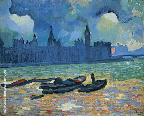 Houses of Parliament at Night 1906 Painting By Andre Derain