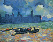 Houses of Parliament at Night 1906 By Andre Derain