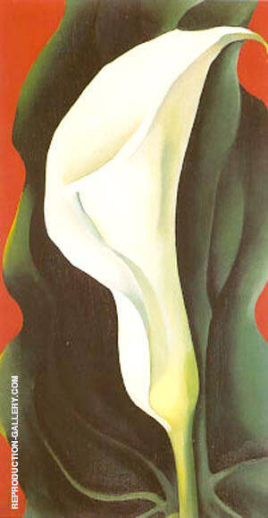 Single Calla Lily Red By Georgia O'Keeffe - Oil Paintings & Art Reproductions - Reproduction Gallery