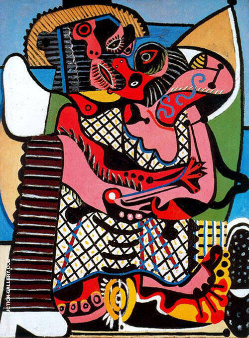 The Embrace 1925 (The Kiss) By Pablo Picasso - Oil Paintings & Art Reproductions - Reproduction Gallery