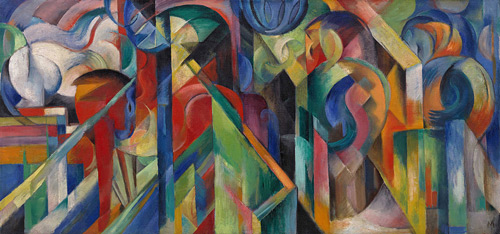 Stables 1913 by Franz Marc | Oil Painting Reproduction Replica On Canvas - Reproduction Gallery