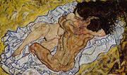 Embrace (Lovers II) 1917 By Egon Schiele