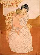 Mother's Caress By Mary Cassatt