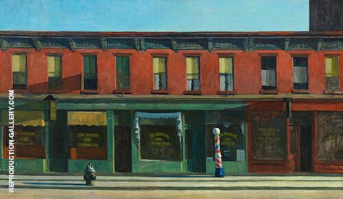 Early Sunday Morning 1930 By Edward Hopper