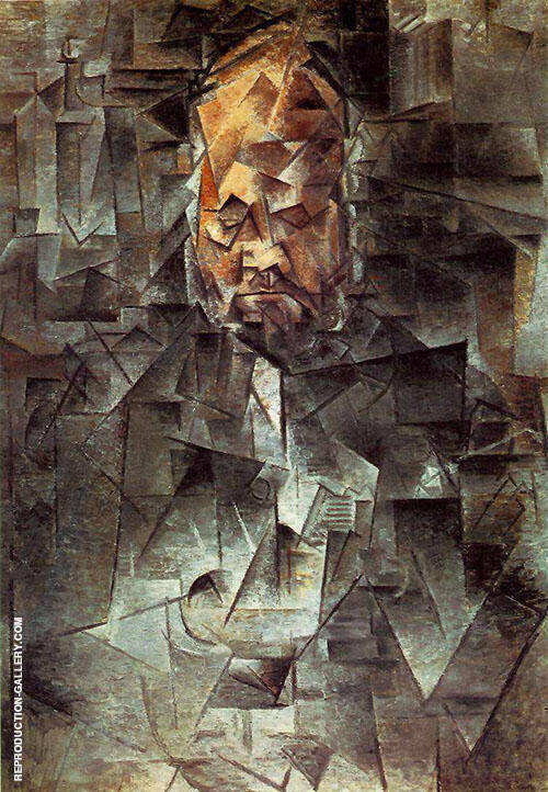 Portrait of Ambroise Vollard 1910 Painting By Pablo Picasso