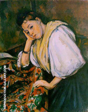 Young Italian Girl Resting on her Elbow 1910 Painting By Paul Cezanne