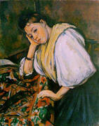 Young Italian Girl Resting on her Elbow 1910 By Paul Cezanne
