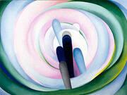Grey Blue Black Pink Circle 1929 By Georgia O'Keeffe